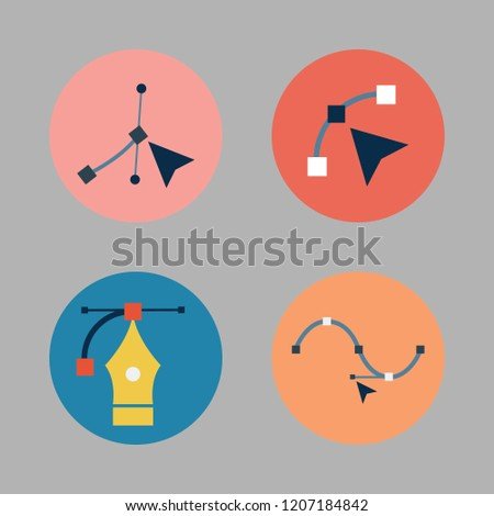 geometric icon set. vector set about vector icons set.