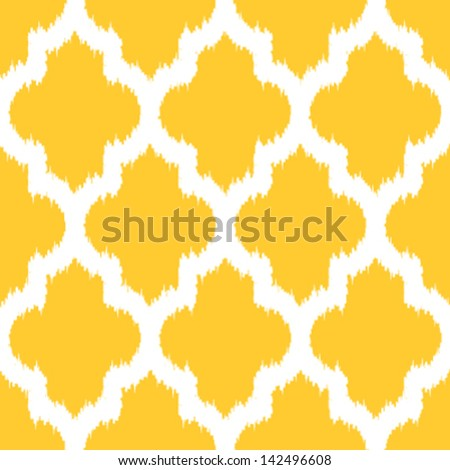 Geometric Ikat Background Pattern