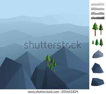 geometric illustration of rock