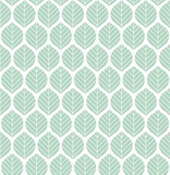 Geometric leaves vector seamless pattern. Abstract vector texture. Leaf background.