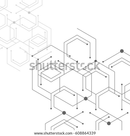 geometric lines and dots line