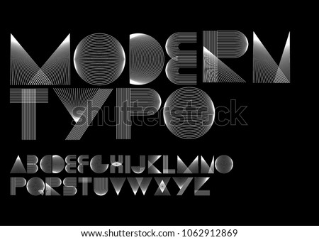 geometric lines modern minimalist typography design vector