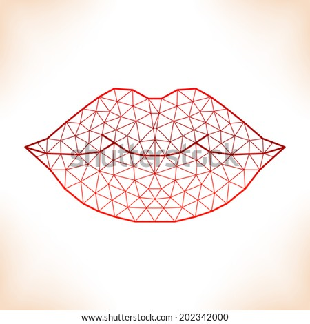 geometric lips for calendar