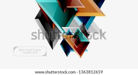 Geometric minimal design background. Vector modern poster #1363812659
