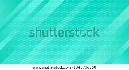Geometric minimal pattern modern sleek texture. Abstract light blue gradient color and dots texture halftone style with oblique lines stripes background. Vector illustration