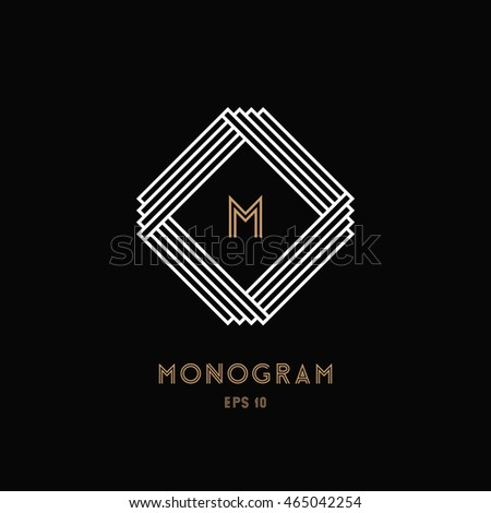 geometric monogram design...