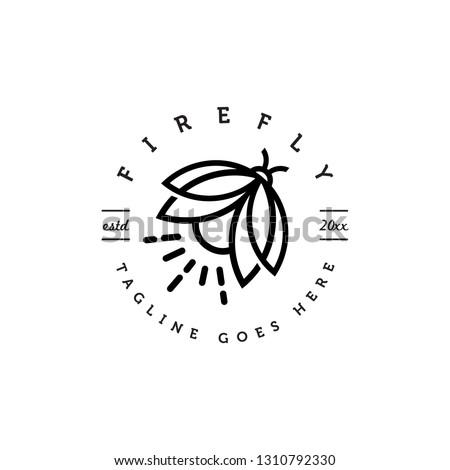 geometric monoline firefly logo
