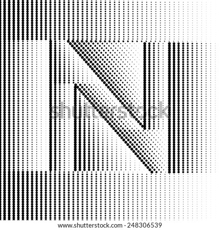 Geometric Optical Illusion Letter N #248306539