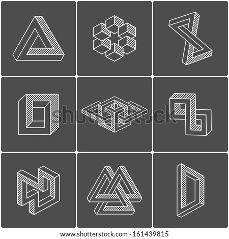 optical illusion shapes for logo or identity  Vector elementsOptical Logo Vector