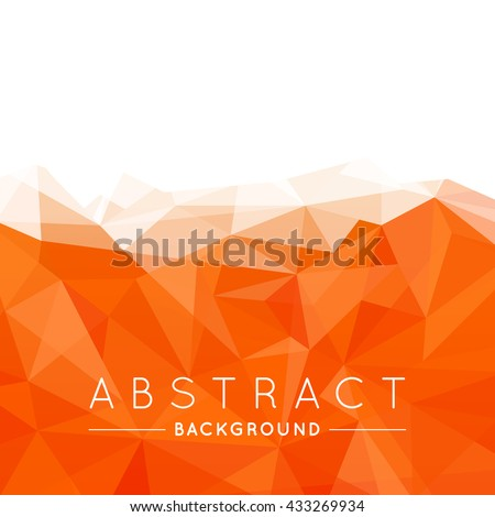 geometric orange and white