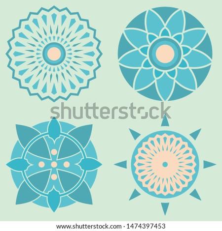 Geometric Ornament, Arabic Vector Ornament