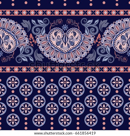 Geometric ornament for weaving, knitting, embroidery, wallpaper, textile. Ethnic pattern Border ornament