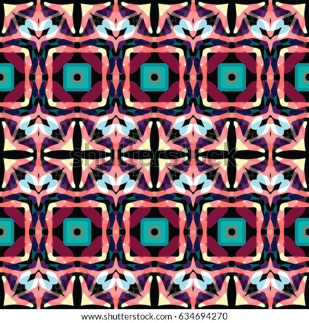 Geometric pattern for print, website, corporate style, interior design, wallpaper. The endless texture. Abstract illustration. Vector ornaments.  #634694270