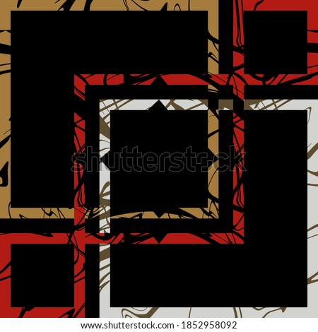 geometric pattern for scarf and textile print. Silk scarf design. vector background Foto stock ©