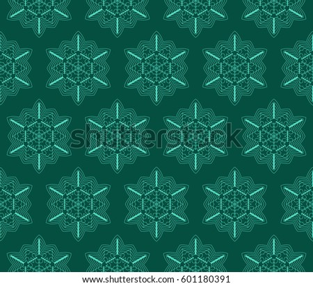 geometric pattern in floral lace style. Ethnic ornament. Vector illustration. For modern interior design, fashion textile print, wallpaper, decor panel