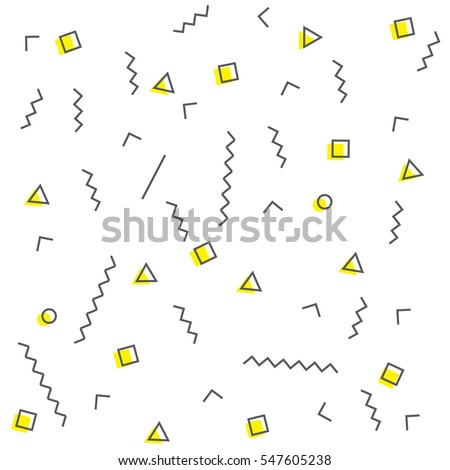 Geometric pattern memphis style. Vector illustration