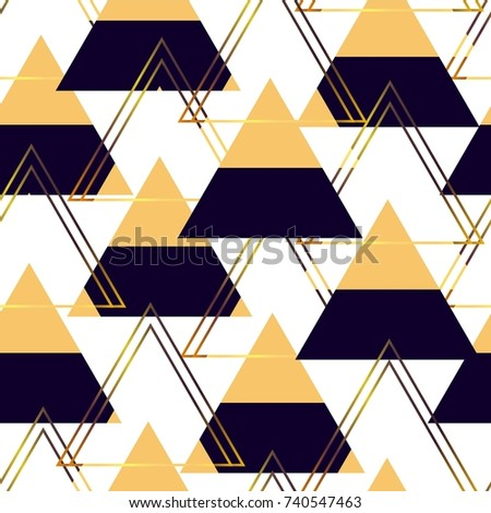 Geometric pattern. Seamless abstract pattern with triangles. Modern geometric background. Vector background. Geometric pattern for textiles, packaging, Wallpaper. Colored triangles.