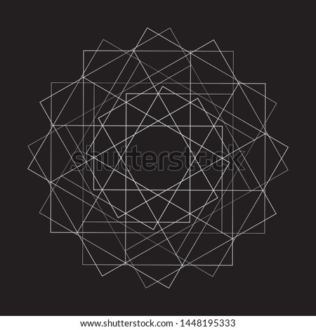 Geometric pattern star set pentagram astrology symmetry
