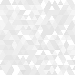 Geometric pattern white and gray  triangles. Geometric modern ornament.  abstract background.