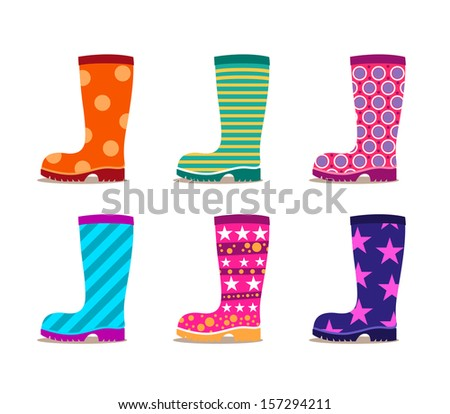 geometric patterned gumboots set