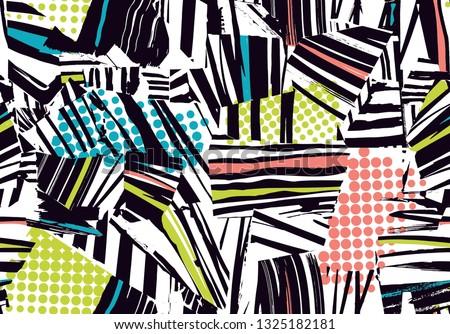 Geometric patterns with polka dot design for textile print,textile pattern