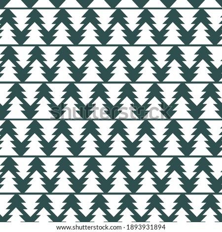 geometric pine trees seamless
