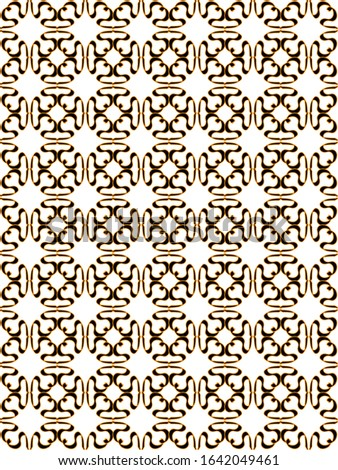 Geometric play of line shapes repeated to create this beautiful pattern