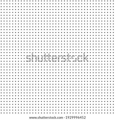 Geometric polka dots seamless vector pattern. Monochrome vector background of small black dots on a white background. Abstract geometric background. Dotted background.