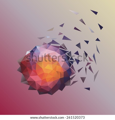 geometric polygonal decorative