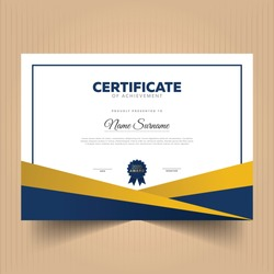 Geometric premium certificate design template, Abstract premium certificate of achievement