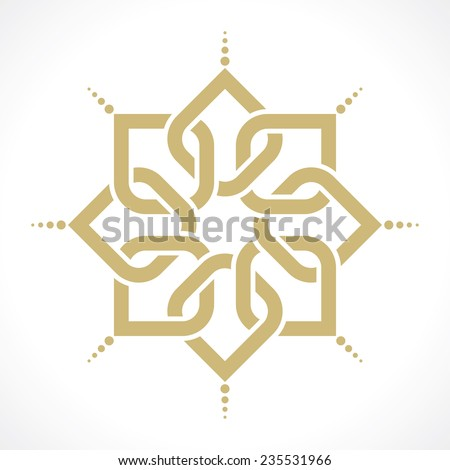 geometric radiant arabic pattern