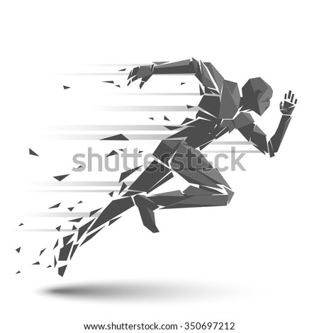 Geometric running man