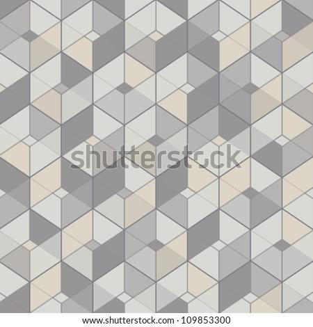 geometric seamless background  mosaic endless pattern  Cube wallpaper