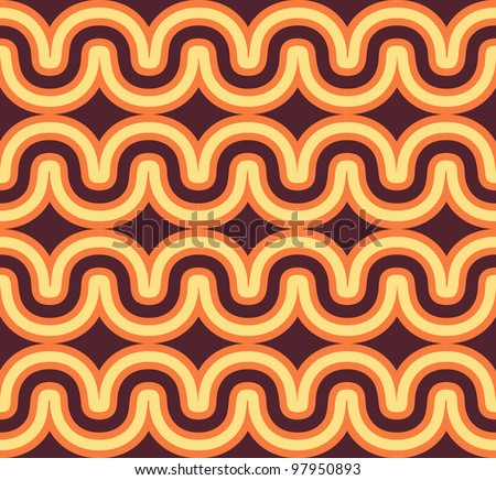 Geometric seamless geometric wave background. Colorful vector illustration