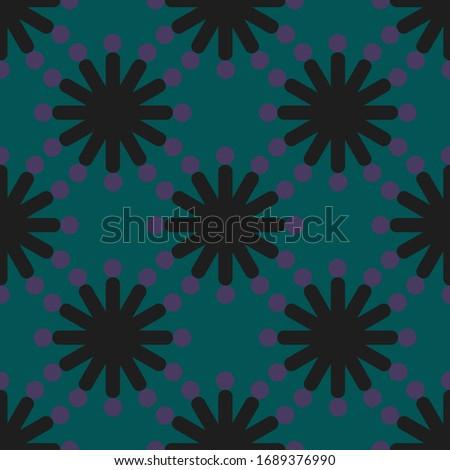 Geometric seamless pattern. Abstract stars, modern backdrop fabric design.