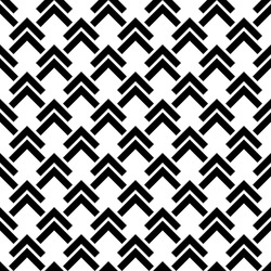 Geometric seamless pattern. Arrow background. Abstract chevron texture. Repeating simple print with chivron. Monochrome graphic design with shevron. Repeated black and white geometry backdrop. Vector