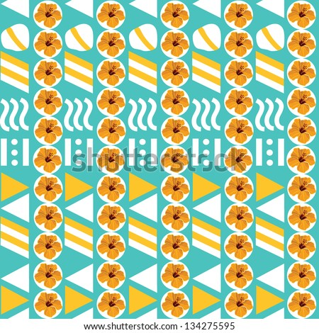 Geometric seamless pattern, hand-drawing. Vector illustration.