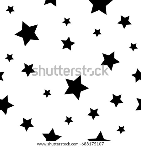 stock-vector-geometric-seamless-pattern-monochrome-randomly-abstract-vector-texture-with-stars