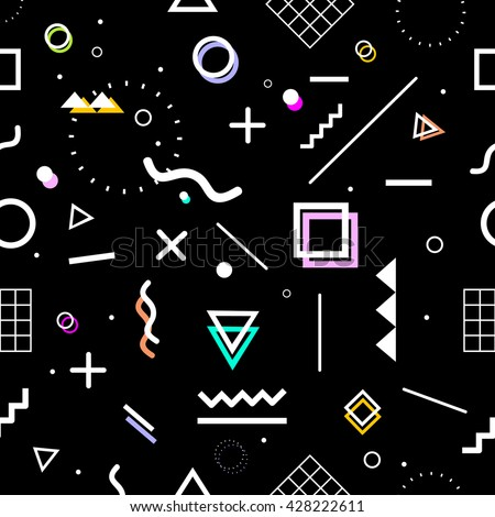 Geometric seamless pattern. Stylish and trendy fabric. Modern abstract wallpaper. Vector illustration.