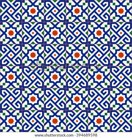 geometric seamless  pattern ...