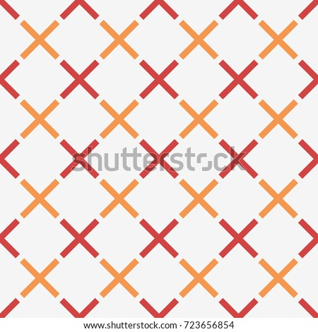 Geometric seamless pattern with crosses. Vector texture