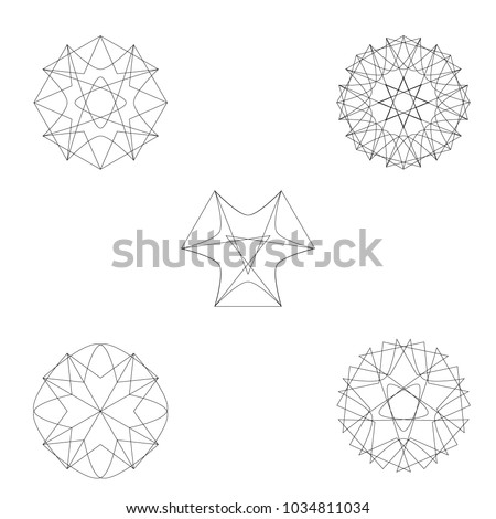 Geometric set for gifts and holidays pattern vector EPS10