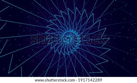 Geometric shape futuristic technology background .  Stock photo ©