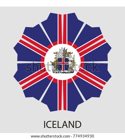 geometric shape with the flag