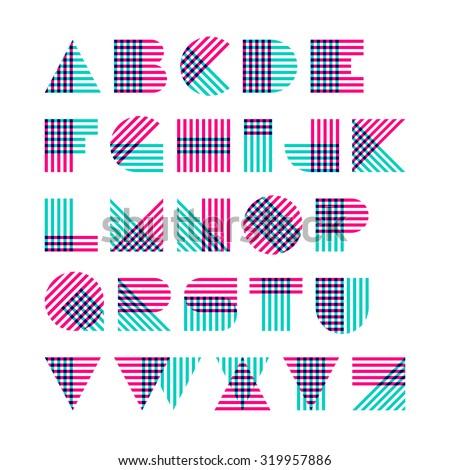geometric shapes alphabet made