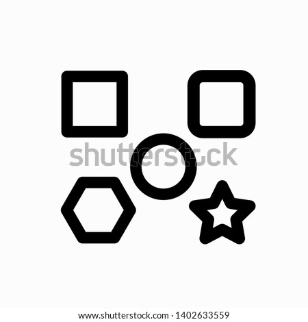 geometric shapes icon,vector illustration. Flat design style. vector geometric shapes icon illustration isolated on White background, geometric shapes icon Eps10.