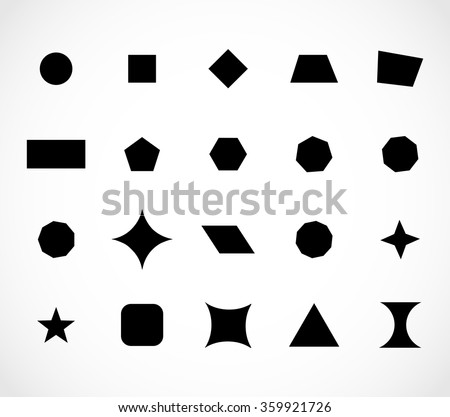 Geometric shapes set vector