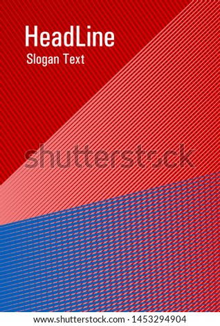 Geometric shapes with lines texture vector cover. Educational brochure cover template. Vibrant gradient book backdrop. Banner backdrop simple print idea. Advanced technological concept.