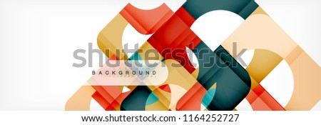 Geometric squares abstract banner. Vector template illustration for business brochure or flyer, presentation and web design layout #1164252727