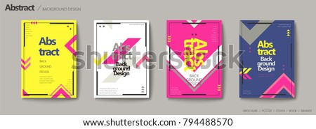 stock-vector-geometric-style-brochure-set-arrow-elements-in-bright-color-design